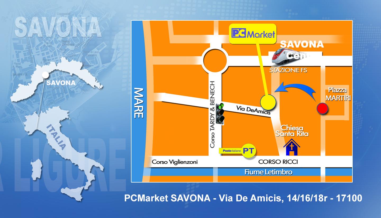 PCMarket - Via De Amicis, 14/16/18r - 17100 Savona